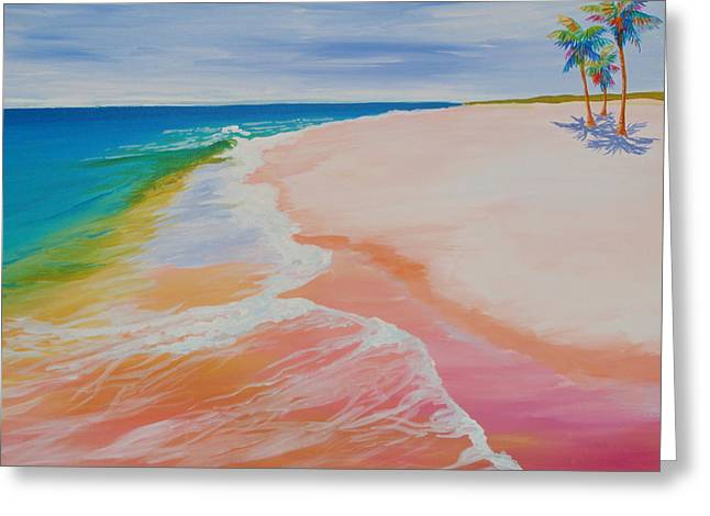Gulf Side Greeting Card by Anne Marie Brown