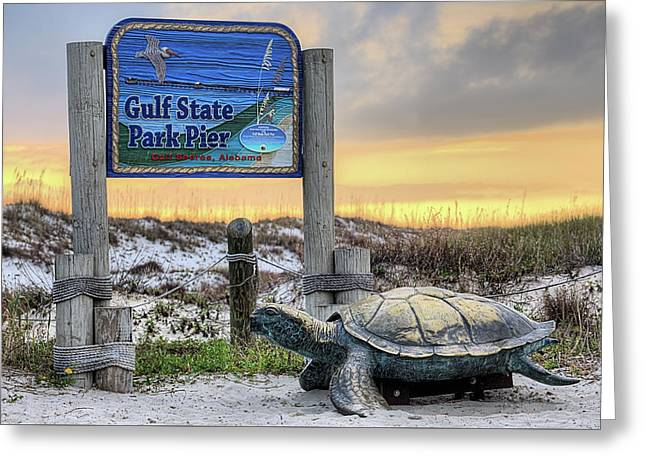 Gulf State Park Pier Greeting Card by JC Findley