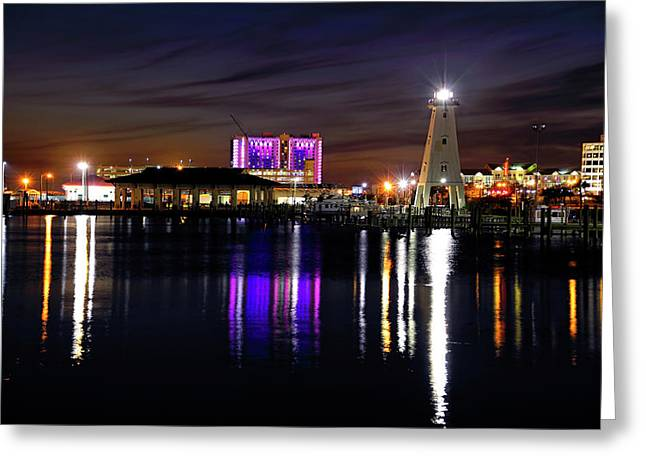 Greeting Card featuring the photograph Gulfport Lighthouse - Mississippi - Harbor by Jason Politte
