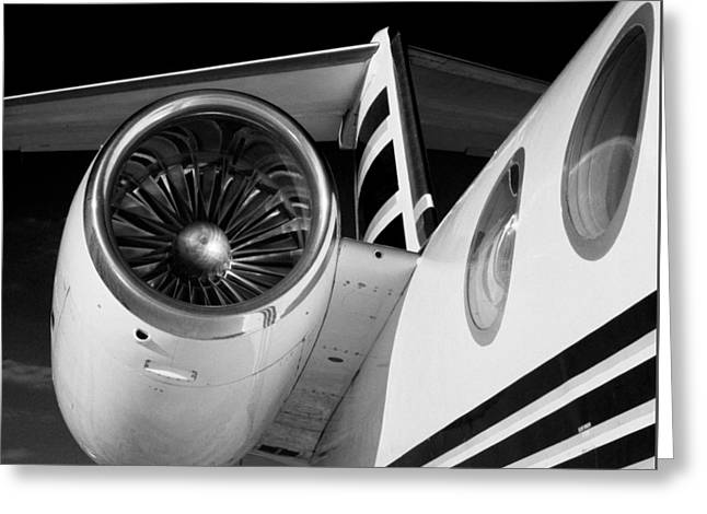Gulfstream Right Side And Engine Greeting Card