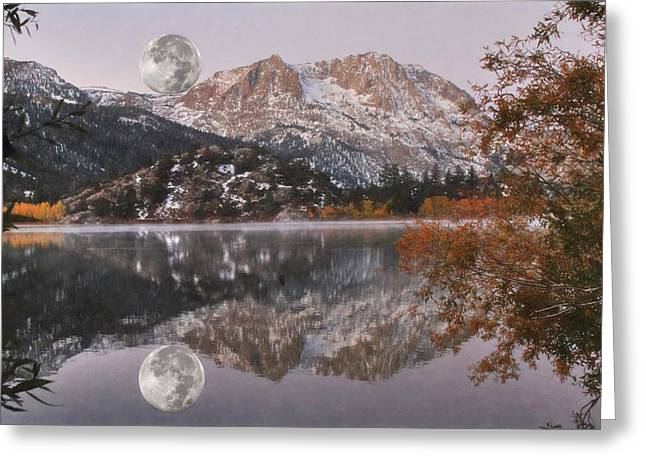 Gull Lake Just Before Sunrise Greeting Card by Donna Kennedy