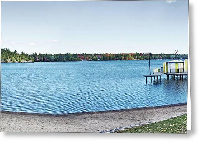 Gull Lake Panorama Greeting Card