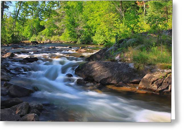 Gull River Falls - Gunflint Trail Minnesota Greeting Card