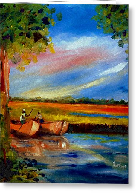 Gullah Lowcountry Sc Greeting Card by Phil Burton