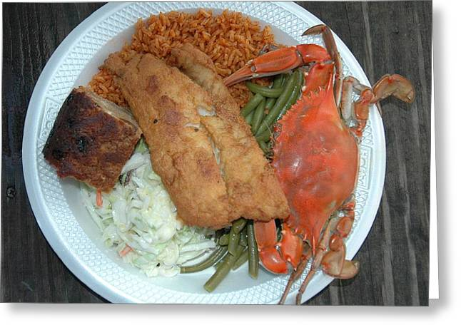 Gullah Plate Greeting Card