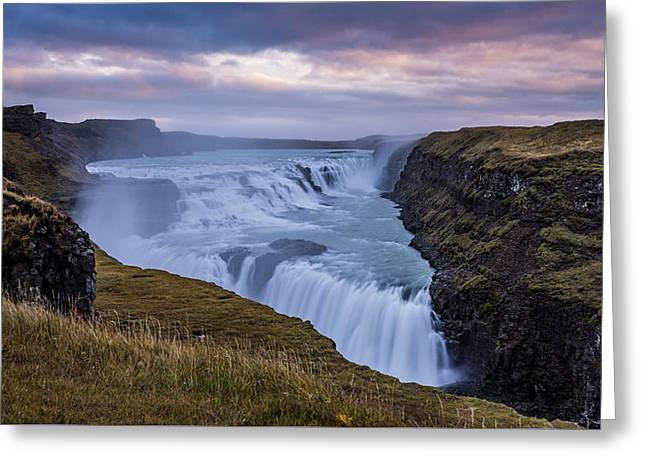 Gullfoss, Sunrise Greeting Card