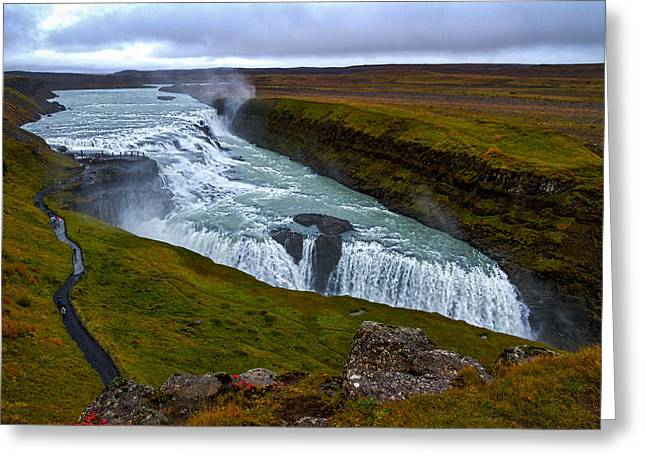Gullfoss Waterfall #2 - Iceland Greeting Card