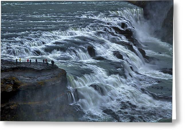 Gullfoss Waterfall #6 - Iceland Greeting Card