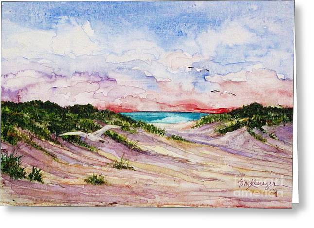 Gulls And Dunes Greeting Card by Suzanne Krueger