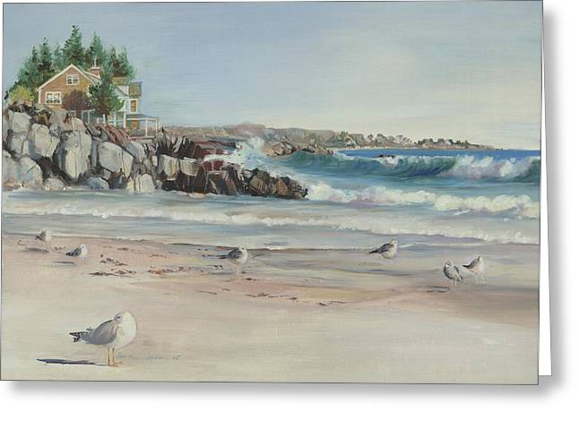 Gulls At Rest Greeting Card