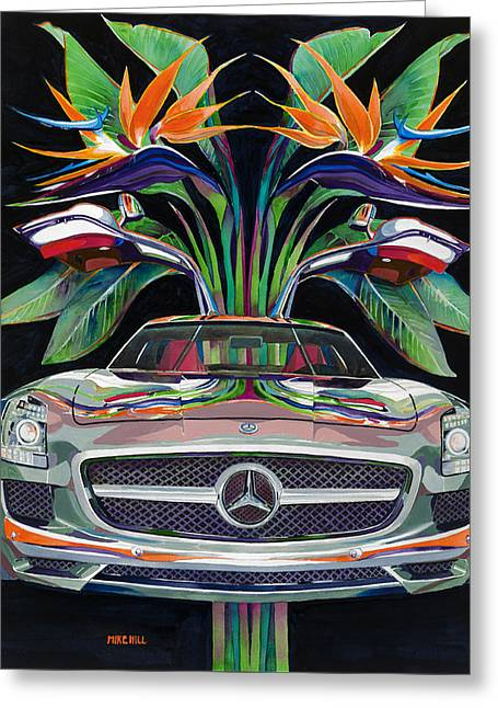Gullwing Birds Of Paradise Greeting Card by Mike Hill