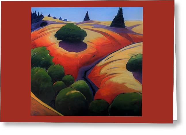 Greeting Card featuring the painting Gully by Gary Coleman