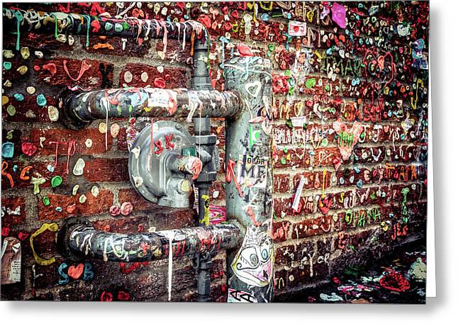Gum Drop Alley Greeting Card by Spencer McDonald