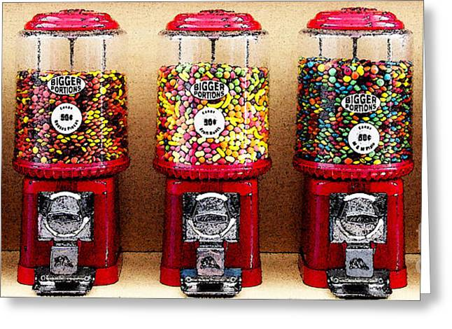 Gumball 5 . Digital Interpretation Greeting Card by Wingsdomain Art and Photography