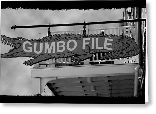 Gumbo File Greeting Card by Linda Kish