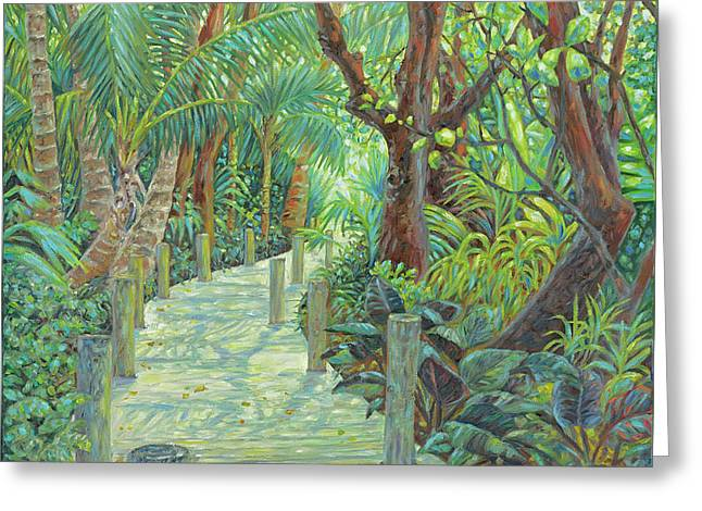Gumbo Limbo Path Greeting Card by Danielle Perry