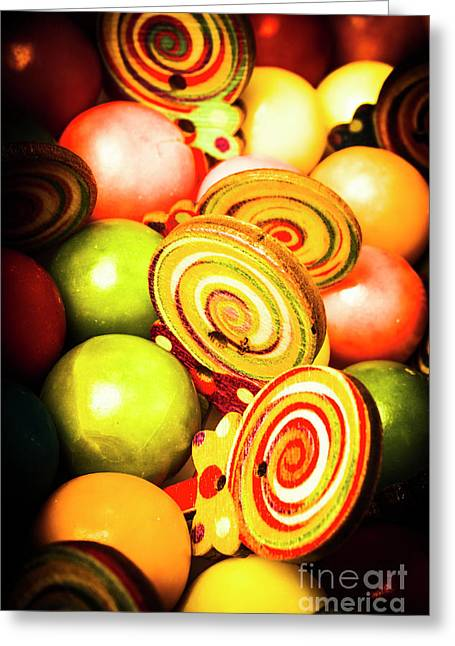 Gumdrops And Candy Pops  Greeting Card