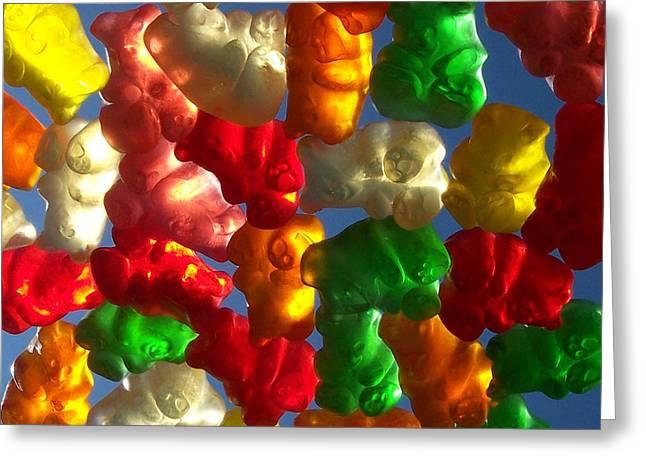 Anna Villarreal Garbis Greeting Cards - Gummybears 2 Greeting Card by Anna Villarreal Garbis