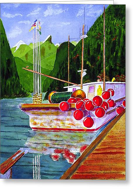 Gunboat Slough Bouys Greeting Card by Buster Dight