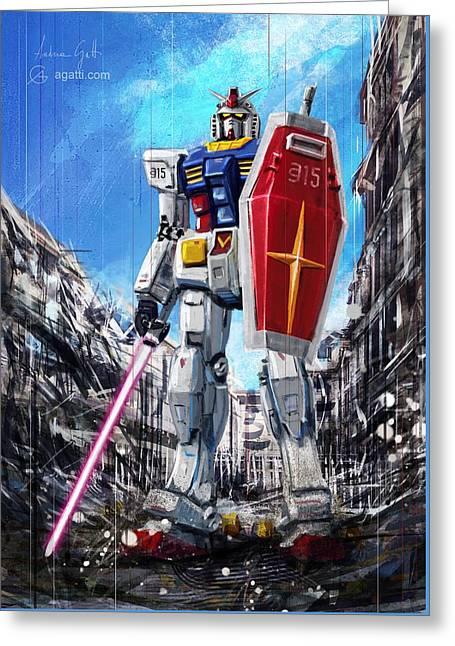 Gundam Lingotto Saber Greeting Card