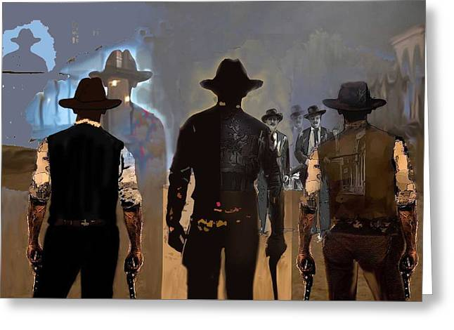Gunfighters Greeting Card