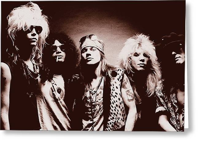 Guns N' Roses - Band Portrait 02 Greeting Card