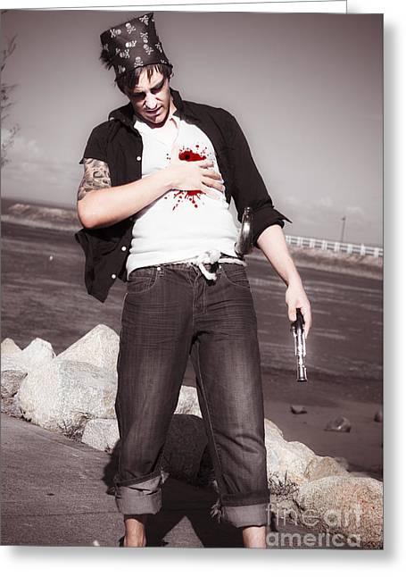 Gunshot Wound Greeting Card by Jorgo Photography - Wall Art Gallery