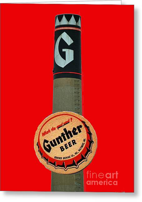 Gunther Beer Greeting Card by Jost Houk