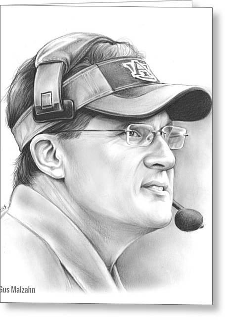 Gus Malzahn Greeting Card by Greg Joens