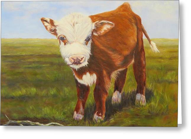 Gus, Cow Greeting Card