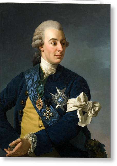 Gustav IIi With The Armlet Of Freedom Greeting Card by Workshop of Alexander Roslin