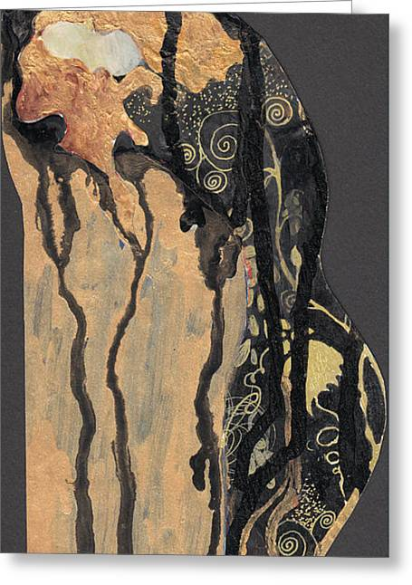 Greeting Card featuring the painting Gustav Klimt's Tears by Maya Manolova
