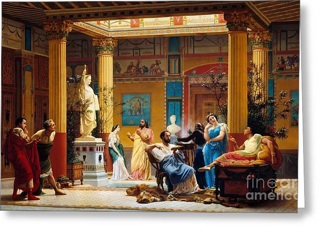 Gustave Boulanger  Greeting Card by MotionAge Designs