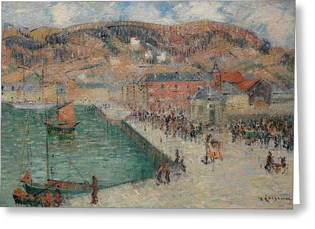 Gustave Loiseau 1865 - 1935 Fecamp, Hotel Aubert Greeting Card