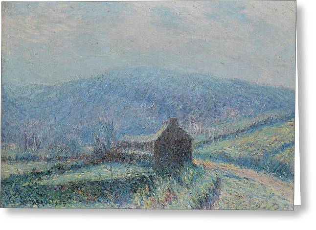 Gustave Loiseau 1865 - 1935 Jelly White Huelgoat, Finistere Greeting Card