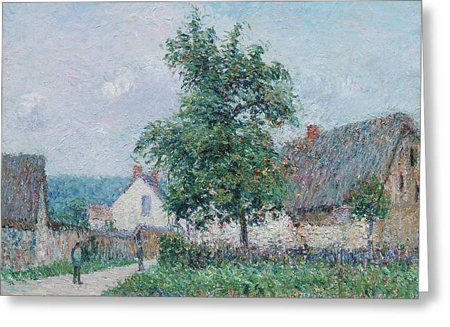 Gustave Loiseau 1865 - 1935 Small Farm In Vaudreuil, Time Gray Greeting Card