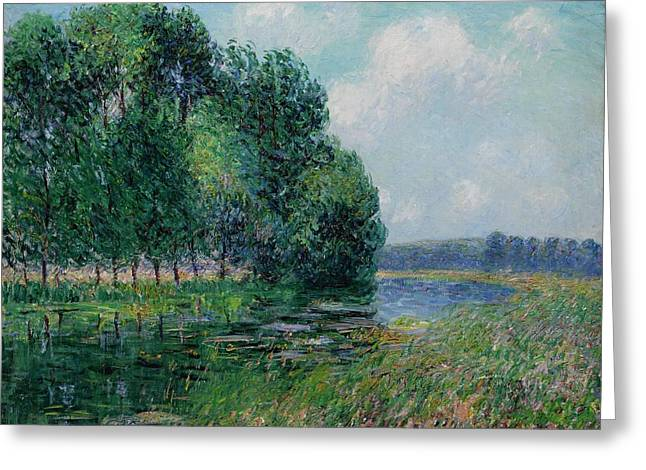 Gustave Loiseau 1865 - 1935 The Banks Of The Eure Greeting Card