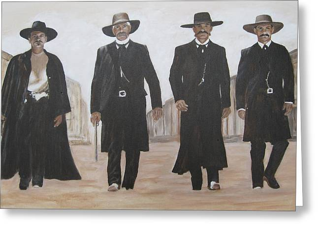 guys from Tombstone Greeting Card by KC Knight