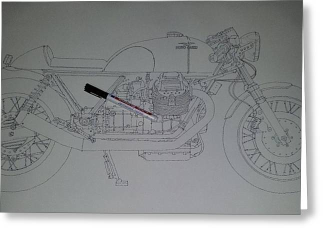Guzzi En Proceso #motorcycle #motogp Greeting Card