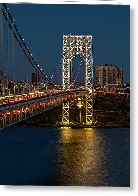 Gw Bridge At Twilight Greeting Card