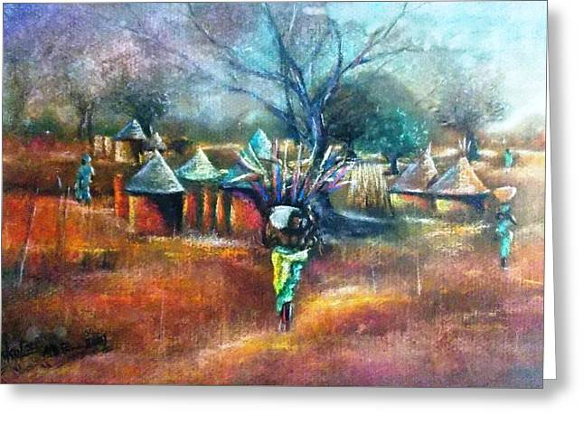 Gwari Village In Abuja Nigeria Greeting Card
