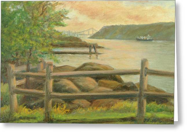 Gwb From Hastings Greeting Card by Phyllis Tarlow