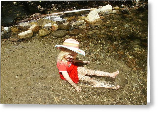 Greeting Card featuring the photograph Gwenyn At Galena Creek On Mt Rose by Dan Whittemore
