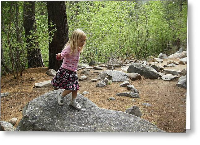 Greeting Card featuring the photograph Gwenyn On Mt. Rose by Dan Whittemore