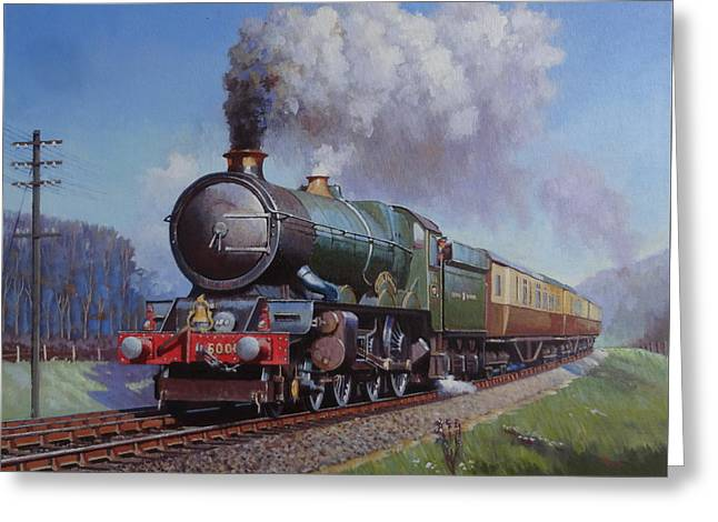 Gwr King On Dainton Bank. Greeting Card