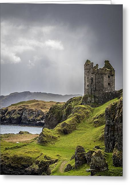 Gylen Castle On Kerrera In Scotland Greeting Card