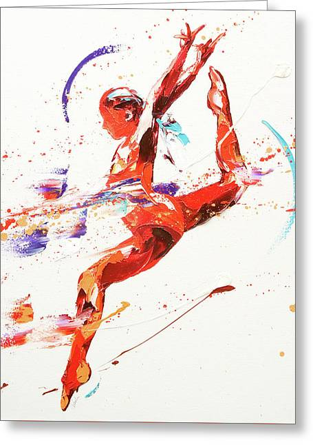 Gymnast Two Greeting Card by Penny Warden