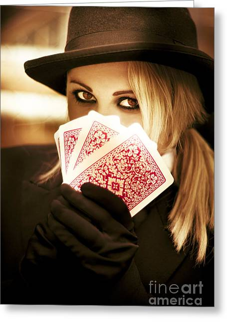 Gypsy Fortune Teller Greeting Card by Jorgo Photography - Wall Art Gallery
