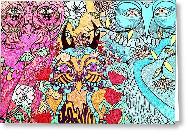 Gypsy Owl Greeting Card