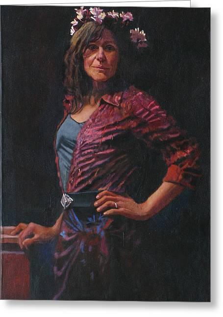 Gypsy Greeting Card by Robert Bissett
